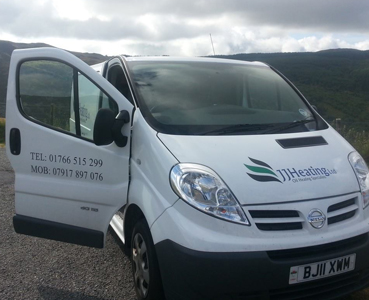 JJ Heating Ltd Van